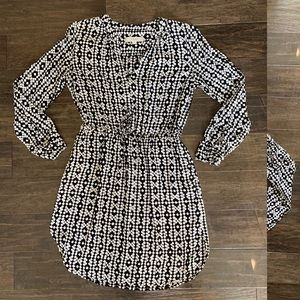 Ann Taylor Loft long-sleeve shirt dress